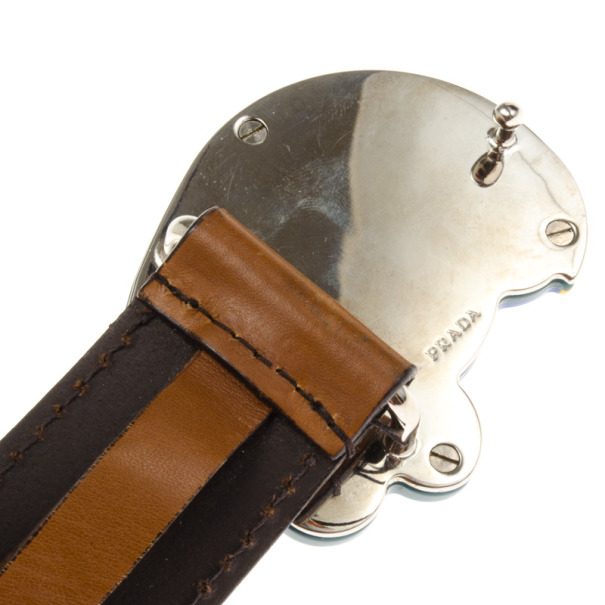 Prada Parrot Buckle Plastic Chain Belt 85 CM