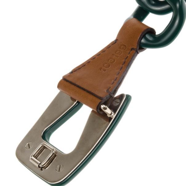 Prada Green Plastic Chain Belt 80 CM