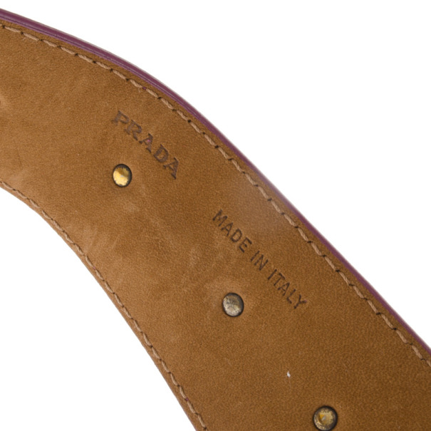 Prada Purple Suede Belt 90 CM