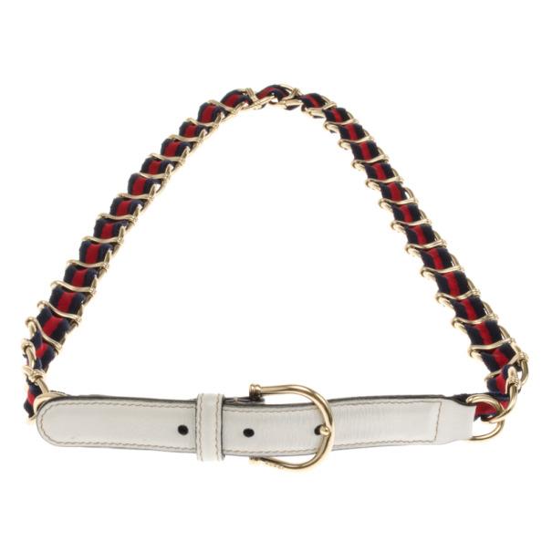 Gucci Web Detail Chain Belt