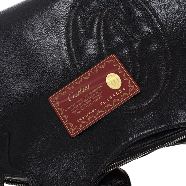 "Cartier Black Leather ""Marcello de Cartier"" Bag"