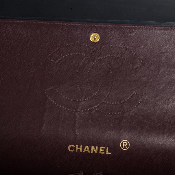 Chanel Vintage Black Medium Lambskin Flap Bag