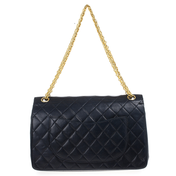 Chanel Vintage Black Medium Lambskin Flap Bag