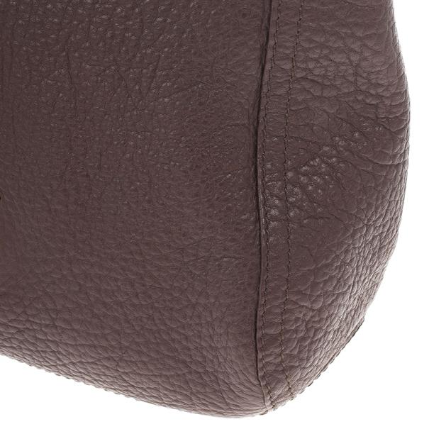 Carolina Herrera Brown Pebbled Leather Maria Bag