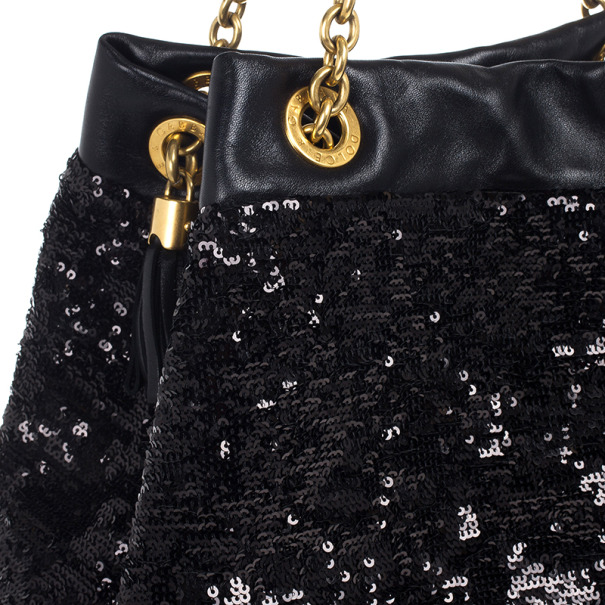 Dolce and Gabbana Miss Kristen Sequined Tote