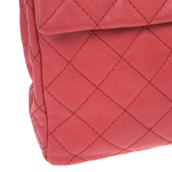 Chanel Hot Pink Leather Jumbo Classic Flap Bag