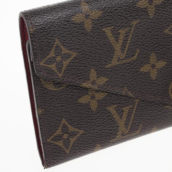 Louis Vuitton Rouge Monogram Canvas Envelope Josephine Wallet