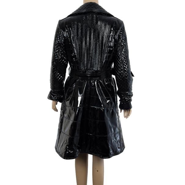 Burberry Prorsum Patent Leather Coat XL