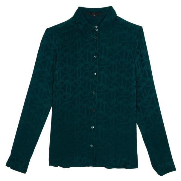 Gucci Silk Satin Shirt M