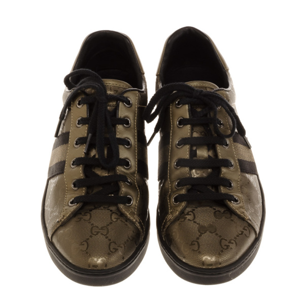 Gucci Guccissima Crystal Sneakers Size 39.5