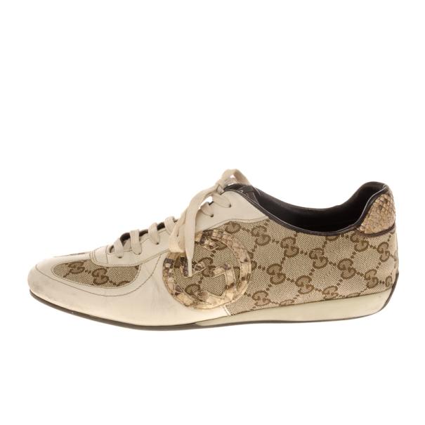 Gucci Guccissima Canvas Sneakers Size 40