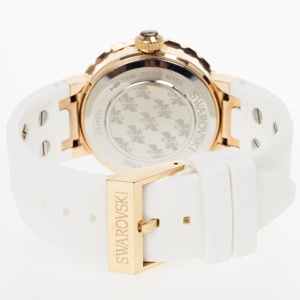 Swarovski Octea Sport Gold Plated Womens Wristwatch 39 MM