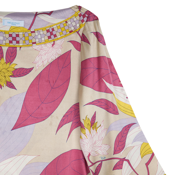 Emilio Pucci Silk Printed Top M