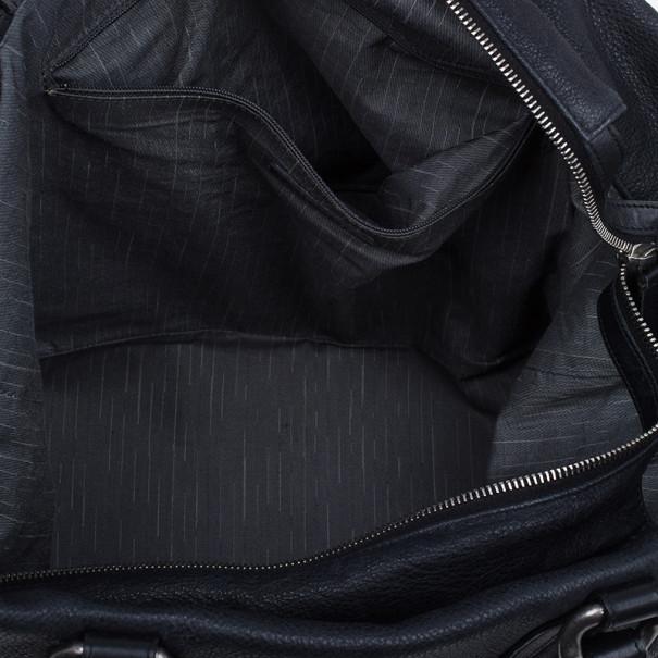 Chanel Black Calfskin Leather CC Tote