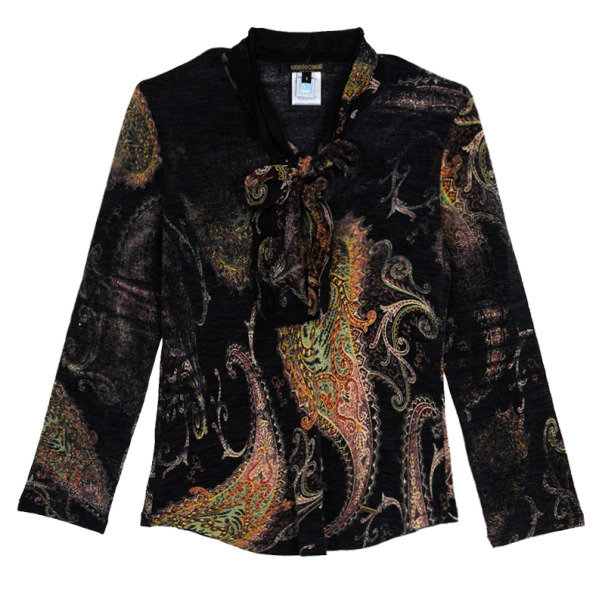 Roberto Cavalli Printed Long Sleeve Top S