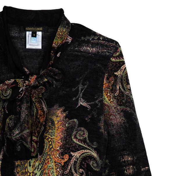 Roberto Cavalli Printed Long Sleeve Top S