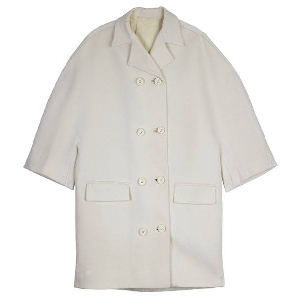 Balenciaga Cream Trench Coat S