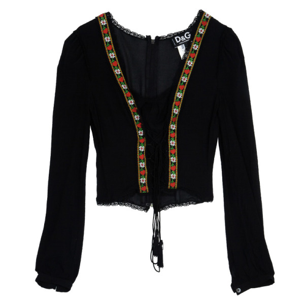 D and G Long Sleeve Corset Top M