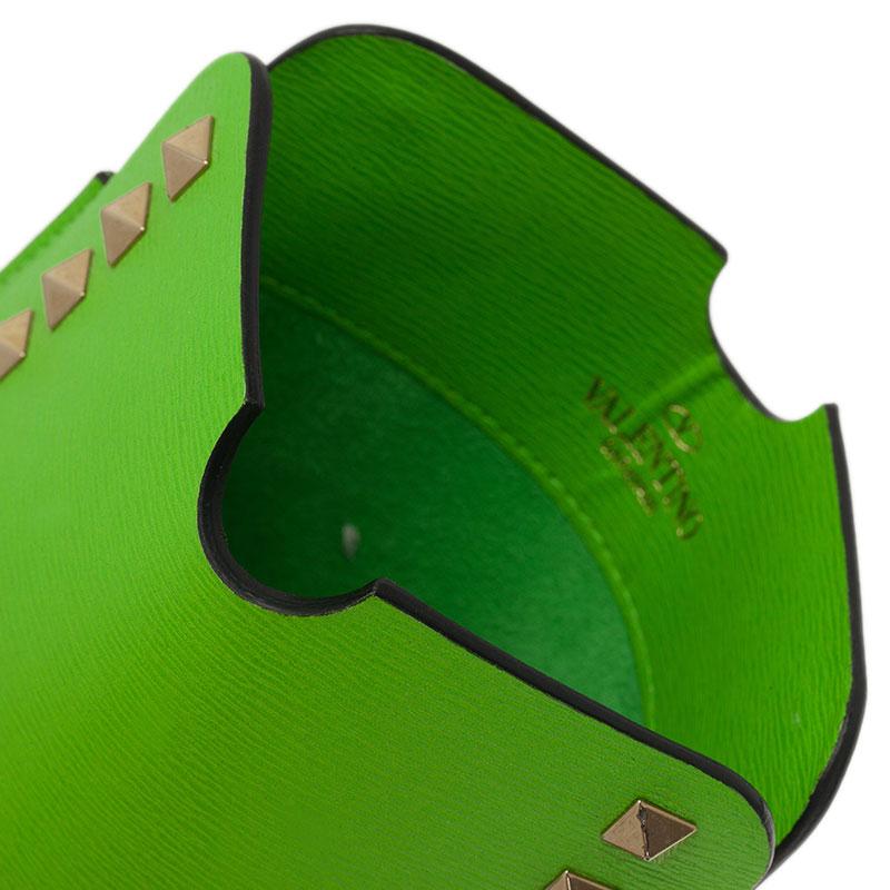 Valentino Green Leather Rockstud iPad Mini Case
