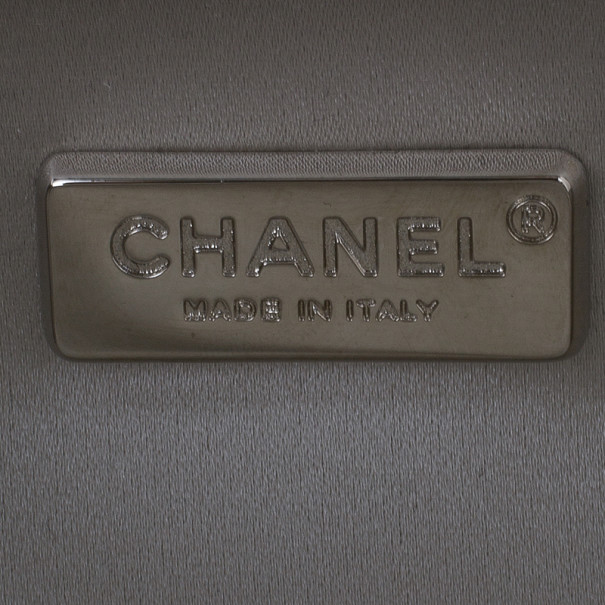 Chanel Silver Lambskin Small Chain Around Clutch