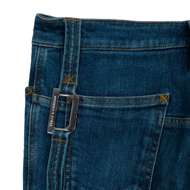 Dolce and Gabbana Buckle Pocket Denim Jeans S