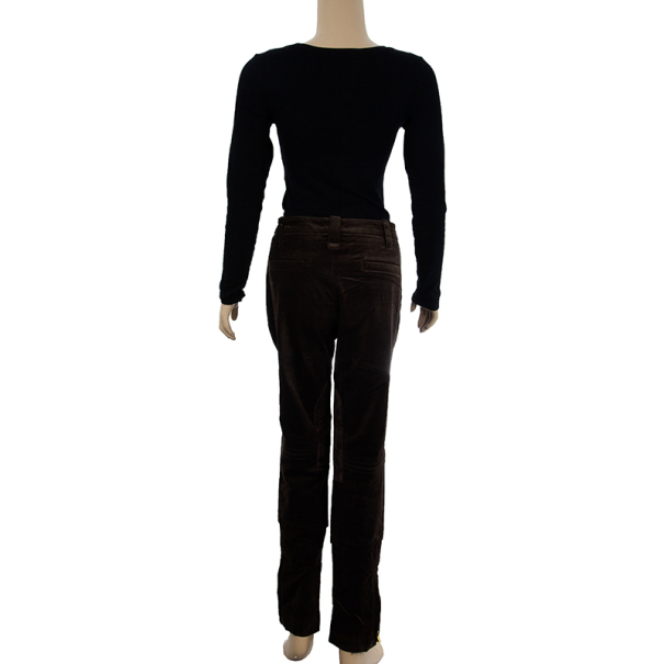 Gucci Brown Velvet Pants M