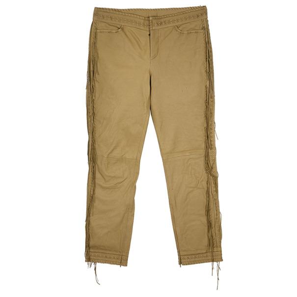 Alexander McQueen Cowboy Fringe Leather Pants M