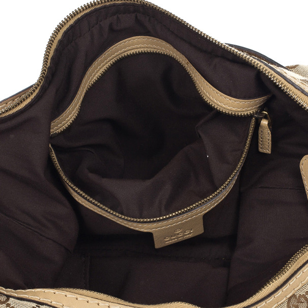 Gucci Beige GG Medium Jockey Hobo Bag