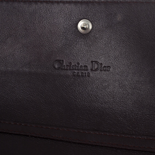 Dior Amethyste Patent Logo Embossed 'Ultimate' Continental Chain Wallet