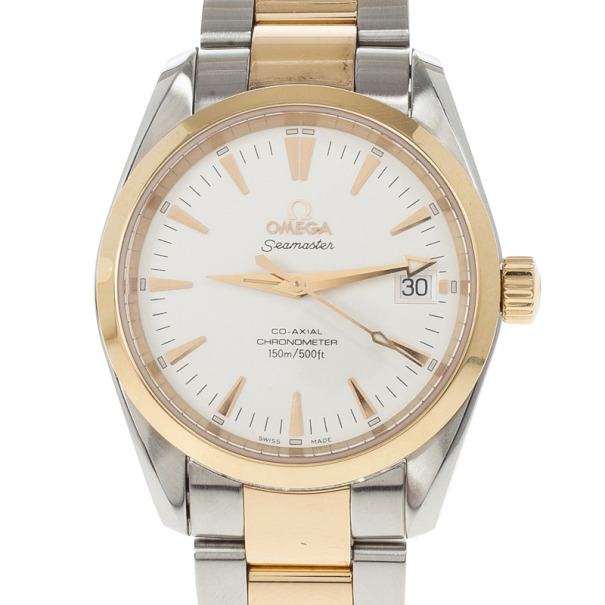 Omega Seamaster Aqua Terra SS & Rose Gold Unisex Wristwatch 36 MM