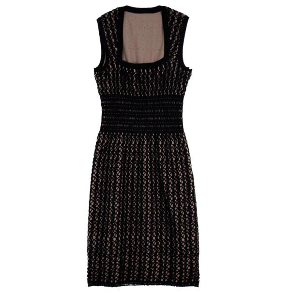 Azzedine ALAÏA Crochet Blister Knit Dress M