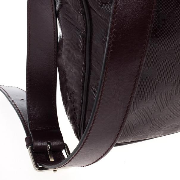 Gucci Burgundy GG Imprime Messenger Bag