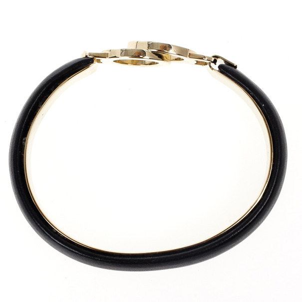 Bvlgari Black Creamy Calf Leather Bracelet