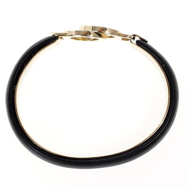 Bvlgari Black Creamy Calf Leather Bracelet