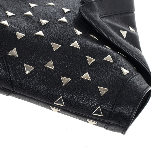 Alexander McQueen Black Optical Stud Demanta Clutch