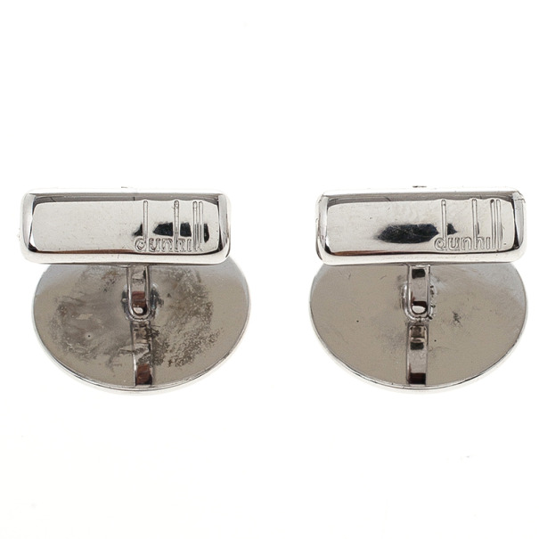 Alfred Dunhill Mother Of Pearl Silver Cufflinks