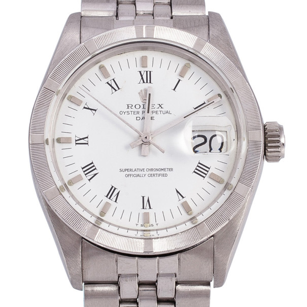 Rolex Stainless Steel Oyster Perpetual Date Unisex Wristwatch 34 MM