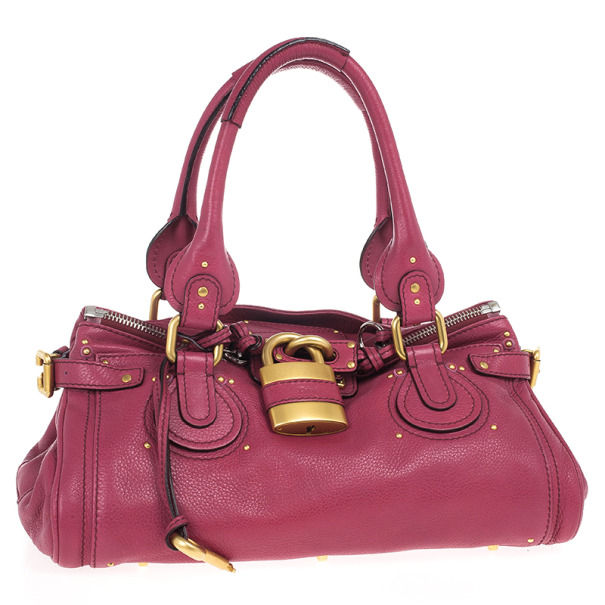Chloe Cyclamen Leather Paddington Satchel