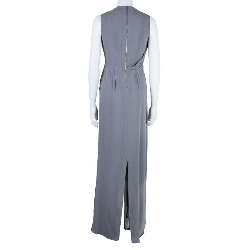 Temperley London Grey Embellished Maxi Dress M