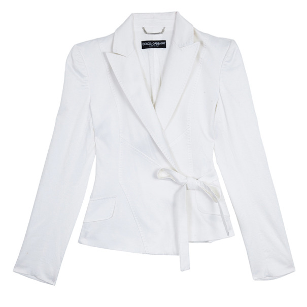 Dolce and Gabbana Wrap Front Jacket S