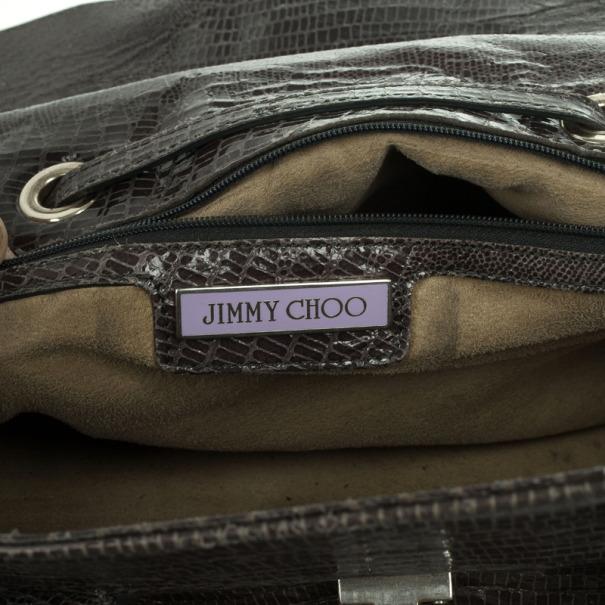 Jimmy Choo Rosalie Lizard Print Convertible Satchel