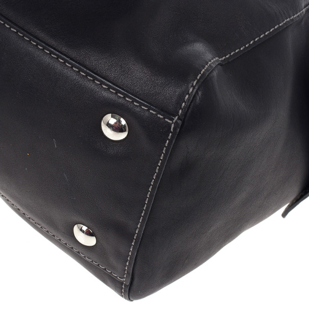 Givenchy Black Leather Duffle Bag