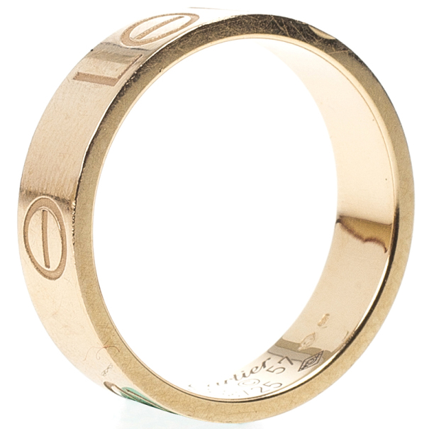 Cartier Love 18kt Rose Gold Ring Size 57