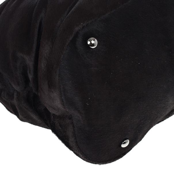 Chanel Dark Brown Pony Hair Sharpei Tote Bag