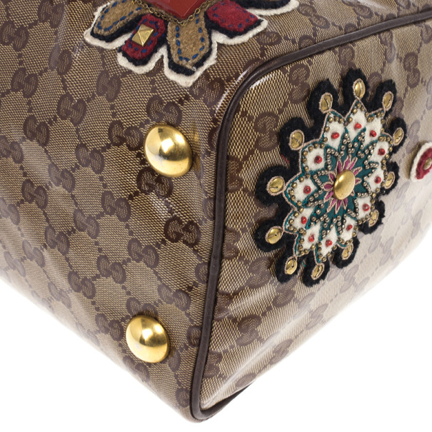 Gucci Babouska Monogram Large Boston Bag