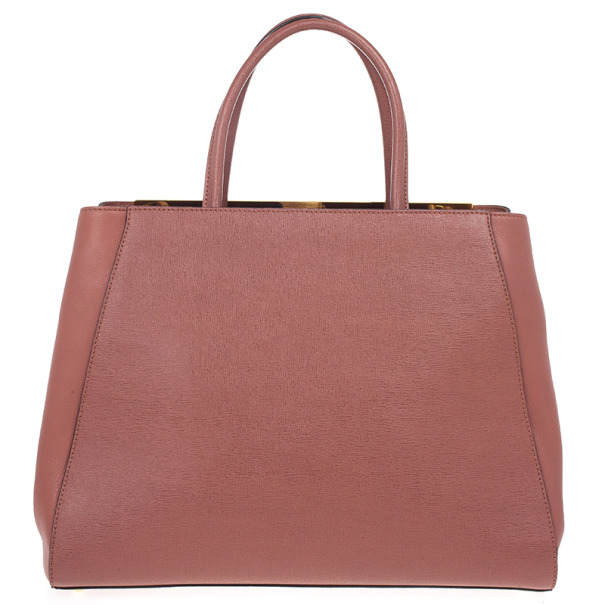 Fendi Terracotta Vitello 2Jours Tote