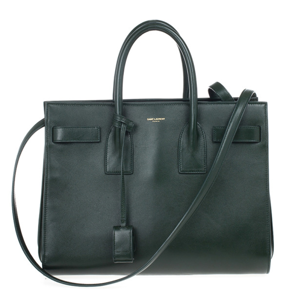 Saint Laurent Paris Green Sac de Jour Tote