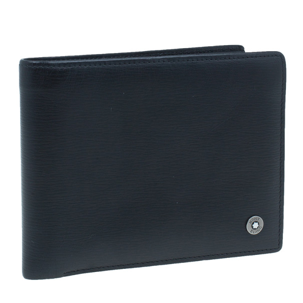 Montblanc Black Leather Westside with Money Clip Wallet