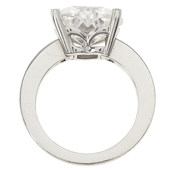 Chopard 18kt White Gold So Happy Rock Crystal Diamond Ring Size 52.5
