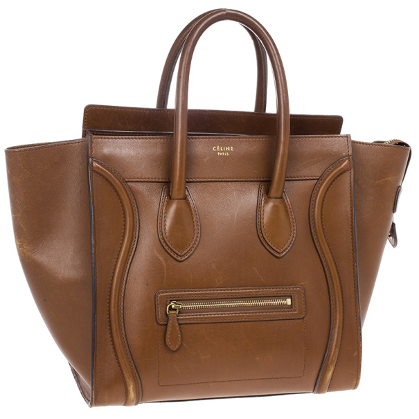 Celine Mini Luggage Tan Tote